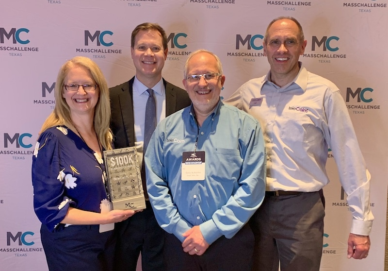 teleCalm receives $100k Diamond Award from MassChallange Texas in Austin